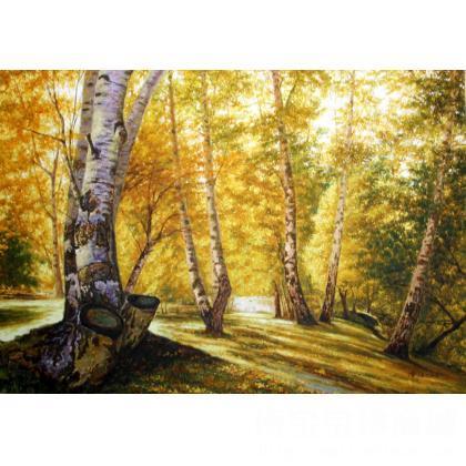 潘进 国际艺术席位 > 潘进 金色的白桦林 类别: 风景油画j  |  共10幅